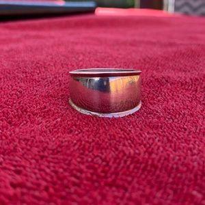 Vintage sterling dome ring